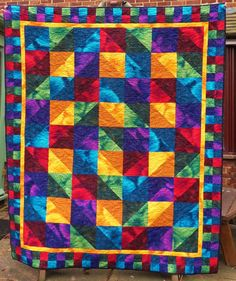 Drive-By Quiltings - how original! The lighting in this quilt is captivating, the drive by concept is intriguing
