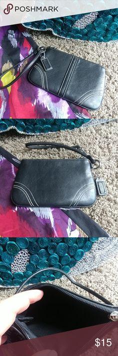 Coach black wristlet Coach wristlet black leather. Coach Bags Clutches & Wristlets