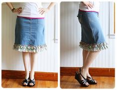 So cute!!   Think I (my mom)  could do this to lengthen a skirt thats a tad too short....   ahem...mom....