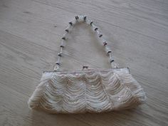 Beaded and sequin evening bag/purse/clutch Metal Chain, Evening Bags, Purses And Bags, Shoulder Strap, My Etsy Shop, Sequins, Beads, Silver, Gold