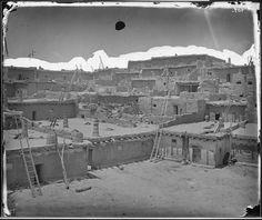 View of the Zuni Pueblo in 1873, New Mexico
