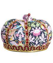 Strawberry Thief Print Crown Pin Cushion