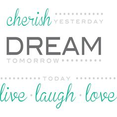 Cherish Dream Live Wall Quote Decals - JCPenney