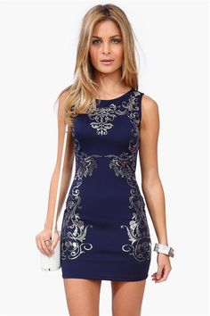 Empire Dress in Blue.  Get 8% cash back @ Necessary Clothing  http://www.studentrate.com/itp/get-itp-student-deals/Necessary-Clothing-Student-Discount--/0