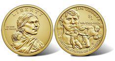 2018 Native American $1 Coin - Sacagawea Obverse and Jim Thorpe Reverse