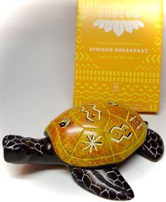 #Yellow kisii #stone #turtle & #African #Breakfast #tea from #Kenya! #fairtrade #handmade