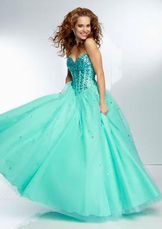 Minty aqua ball gown