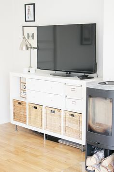 ikea kallax tv unit with drawers basement remodel. Black Bedroom Furniture Sets. Home Design Ideas