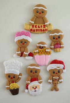 Gingerbread Crafts, Christmas Gingerbread, Christmas Candy, Christmas Stockings, Christmas Holidays, Felt Christmas Decorations, Xmas Ornaments, Christmas Themes, Christmas Crafts