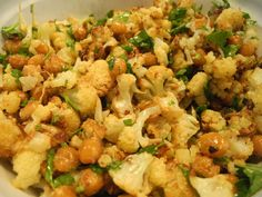 "Roasted cauliflower and chickpeas with mustard and parsley (Gwyneth Paltrow/GOOP ""It's All Good"")"