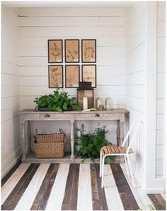 What a great idea for an old wood porch floor