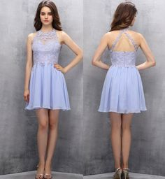 A-line Homecoming Dresses,Cute Homecoming Dresses,Short Homecoming Dresses,Halter Prom Gown,Lilac Prom Dresses,Sweet Dress