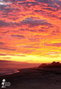 A beautiful, fiery sunset on St. George Island, Florida #beach #vacation