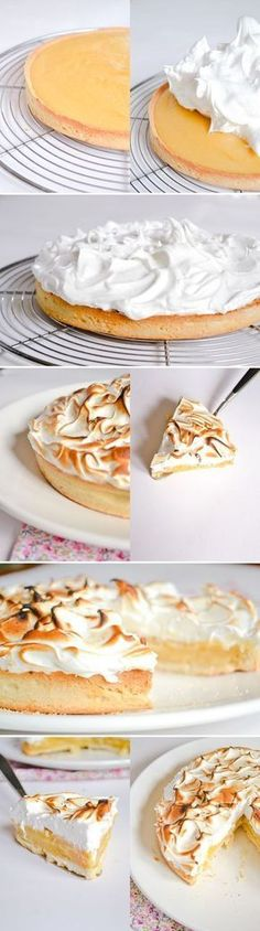 now that's what I call lemon meringue! Just Desserts, Delicious Desserts, Dessert Recipes, Yummy Food, Oreo Dessert, Eat Dessert First, Doce Banana, Cupcake Cakes, Cupcakes