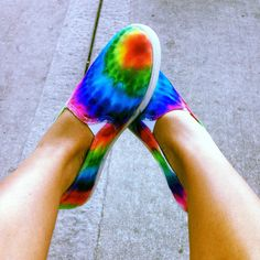 Shoes from Walmart. Tie dye done with sharpies and alcohol. LOVE!
