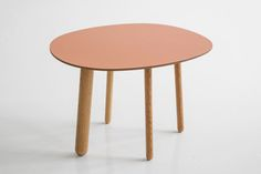 Morris coffee table model 2 in matte terracotta