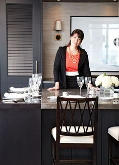 Interior designer Kimberley Seldon downsized from a five-bedroom house to a two-bedroom condo. Here's how she decorated her condo apartment