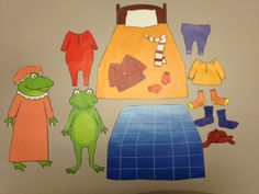 FREE template for Froggy Gets Dressed by Jonathan London (print in color & laminate or make a felt set)
