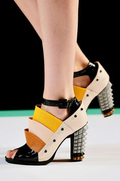 """Fendi -- Spring 2013 RTW: I like this in an """"I would never wear it"""" sort of way (not that I have the means to do so)"""