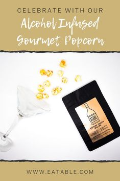 Delicious peach wine infused gourmet popcorn is an awesome snack food to have at your next party or event. Perfect for adult birthday parties, bridal showers or wedding dessert tables! Gifts For Wine Lovers, Wine Gifts, Peach Wine, Peach Bellini, Alcoholic Desserts, Wine Gift Baskets, Gourmet Popcorn, Party Snacks, Party Favors