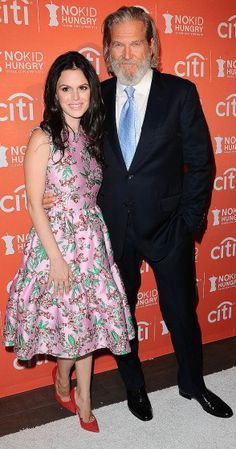 Rachel Bilson poses with Jeff Bridges at the No Kid Hungry benefit on Wednesday in Los Angeles.
