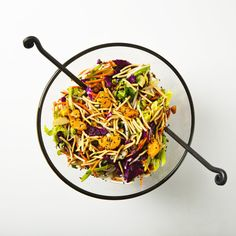 Vegan Chinese Salad with Roasted Chickpeas Chicken Chickpea, Chickpea Salad, Chinese Chicken, Sesame Chicken, Healthy Salad Recipes, Vegetarian Recipes, Chinese Salad, Crispy Chickpeas, Vegan Blogs