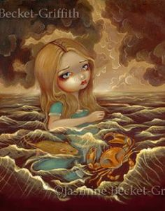 Alice in the Pool of Tears by jasminetoad
