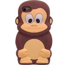 OOOUSE Cute Animal 3D Monkey King Silicone Case Cover Ski...