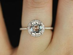 Halo ring with a thin band