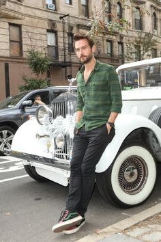 Tom Mison, doing a great job of leaning against a car. Facebook Cover…