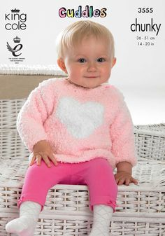 Childrens Hooded Sweater and Heart Sweater  - King Cole