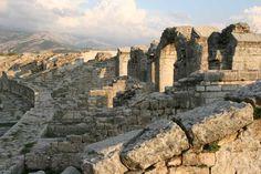 Ruins of the amphitheater of Solin, Croatia