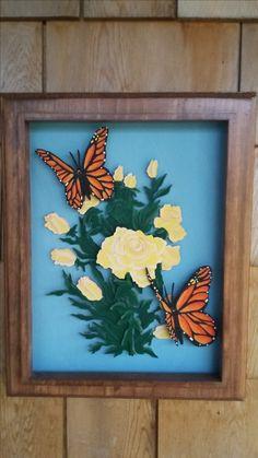 Butterflies Delight 3 D Wall Hanging Wall Hangings, 3 D, Butterflies, Frame, Painting, Home Decor, Homemade Home Decor, Painting Art, Butterfly