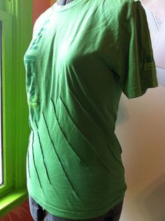 Easy T shirt transformation with pin-tucks!