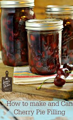Simple instructions with photos for how to make and can cherry pie filling. You can do it with @loavesanddishes.net