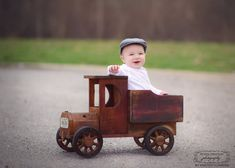 Image of Woodsy Wonders Country (and a little bit rustic! Wooden Toy Trucks, Foto Baby, Learn Woodworking, Newborn Photography Props, Photo On Wood, Wood Toys, Kids Furniture, Baby Photos, Photo Props