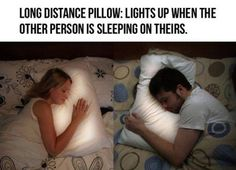 This is AMAZING! If I was ever brave enough to be in a Long Distance Relationship, My Boyfriend better get me this.                                                                                                                                                     More