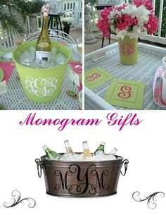 Monogram ideas, Love these! I can paint the buckets!