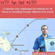 This man celebrated his birthday for 46 hours - WTF fun fact
