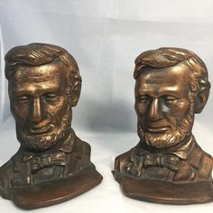 Antique Abe Lincoln Bookends