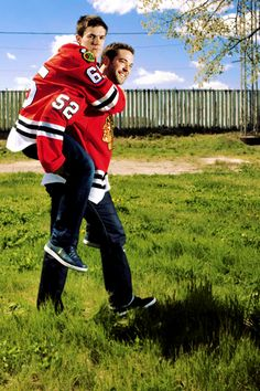 Andrew Shaw and Brandon Bollig...my favorite bromance in the world. :)