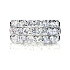 The #infinite #band of an #eternity #ring signifies everlasting adoration and promise. #Eternity #bands can be both semi and full #eternity (meaning they are partly set with stones along the top of the band [semi] or set with stones all the way along the #ring [full]).