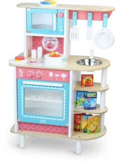 Vilac Little Village Kids Kitchen #vilac #playkitchen #oliverthomas #playroom #toykitchen #woodentoys #imaginativeplay