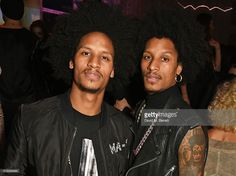 Larry Bourgeois and Laurent Bourgeois aka Les Twins attend the L'Oreal Paris Gold Obsession Party at Hotel de la Monnaie on October 2, 2016 in Paris, France.