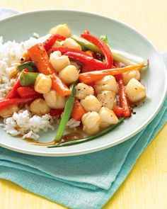 Bay Scallop Stir-Fry