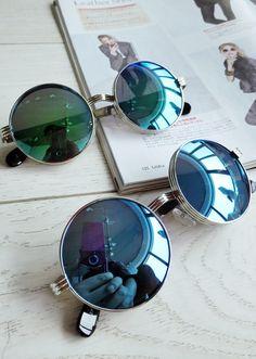 blue lenses round sunglasses Beautifuls.com Members VIP Fashion Club 40-80% Off Luxury Fashion Brands