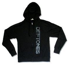 Adult Deftones Vertical Logo Black Zip Hoodie Sweatshirt - http://bandshirts.org/product/adult-deftones-vertical-logo-black-zip-hoodie-sweatshirt/