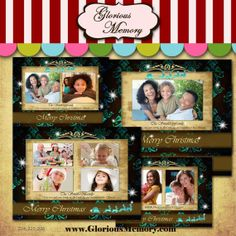 Christmas Card Templates  Holiday Photo Card by GloriousMemory, $9.00