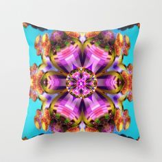 Fractal sea Throw Pillow by Annabellerockz - $20.00