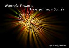 4th of July scavenger hunt in Spanish for kids from Spanish Playground, with #Spanishvocabulary and #Spanishphrases to use on #July4th. #4thofJuly activities for kids #Spanish http://spanishplayground.net/4th-july-scavenger-hunt-in-spanish/